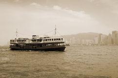 Victoria Harbor in Hong Kong Royalty Free Stock Images