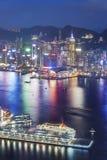Victoria Harbor of Hong Kong Royalty Free Stock Photo