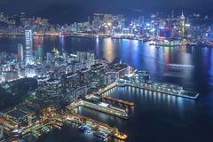 Victoria Harbor of Hong Kong Stock Image