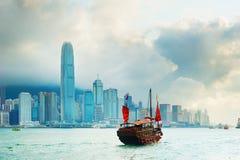 Victoria harbor, Hong Kong Stock Images