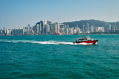 Victoria harbor of hongkong Royalty Free Stock Photography