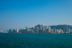 Victoria harbor of hongkong Stock Image