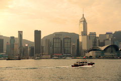 Victoria harbor of hongkong Stock Photos
