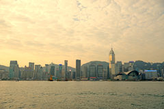 Victoria harbor of hongkong Stock Photo