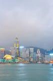 Victoria harbor of hongkong night Royalty Free Stock Photos