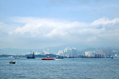Victoria harbor of hongkong Royalty Free Stock Image