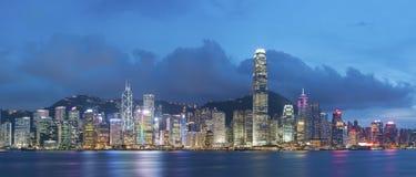 Victoria Harbor i den Hong Kong staden Royaltyfria Foton