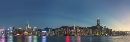 Victoria Harbor i den Hong Kong staden Royaltyfri Fotografi