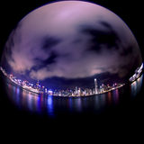 Victoria harbor at night Royalty Free Stock Images