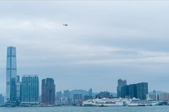 Victoria Harbor och Hong Kong Island Royaltyfria Foton