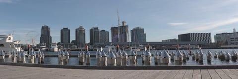 Victoria Harbor panorama Stock Photos