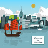 Victoria Harbor scenery Royalty Free Stock Photography