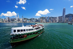Victoria Harbor van Hong Kong Stock Foto