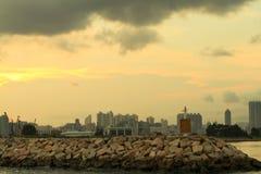 Victoria Harbor van kwun tong aan het noordenpunt royalty-vrije stock afbeelding