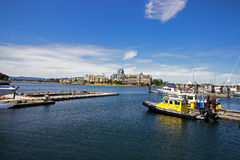 Capital city Victoria's Harbor on Vancouver Island in British Columbia Royalty Free Stock Images