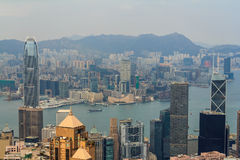Victoria Harbor View Royaltyfri Foto
