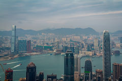 Victoria Harbor View Arkivfoto