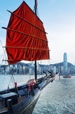 Victoria Harbor von Hong Kong Stockfoto