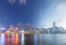 Victoria Harbor von Hong Kong City Lizenzfreie Stockfotos