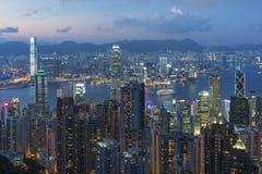 Victoria Harbor von Hong Kong City Stockfoto