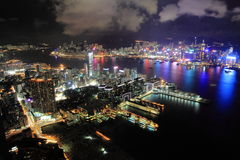 Victoria Harbour. Overlooking Hong Kong Island from Kowloon Royalty Free Stock Image