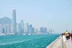Victoria Harbour del ¼ Œworld di Œasiaï del ¼ di ŒChinaï del ¼ del centerï di Œfinancial del ¼ del ï di Hong Kong Fotografia Stock Libera da Diritti