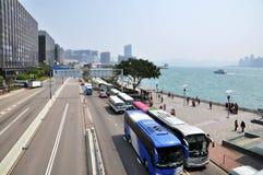 Victoria Harbour del centro de Œfinancial del ¼ del ï de Hong-Kong Foto de archivo libre de regalías