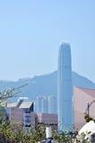Victoria Harbour del centro di Œfinancial del ¼ del ï di Hong Kong Fotografie Stock Libere da Diritti