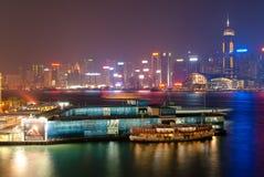 Victoria Harbour en Hong Kong image libre de droits