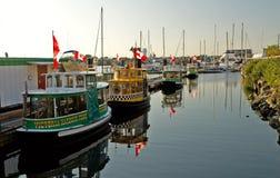 Victoria Harbour Ferry service Royaltyfria Bilder