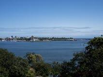 Victoria Harbour Harbor. Harbor front in Victoria British Columbia landscape Royalty Free Stock Image