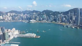 Victoria Harbour. In Hong Kong Stock Image
