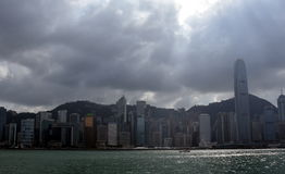 Victoria Harbour in Hong Kong. royalty free stock photography