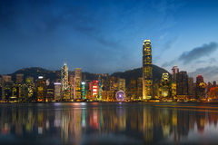 Victoria harbour Royalty Free Stock Photos