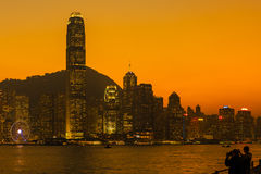 Victoria Harbour, Hong Kong Stock Images