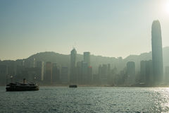 Victoria Harbour in Hong Kong Royalty Free Stock Photo