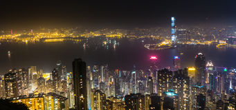 Victoria Harbour, Hong Kong. Night View of Victoria Harbour, Hong Kong Royalty Free Stock Image