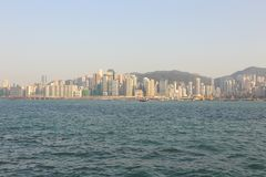 Victoria harbour and Hong Kong skyline Royalty Free Stock Images