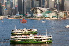 Victoria Harbour, Hong Kong. Star Ferries at Victoria Harbour, Hong Kong Stock Images