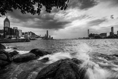 Victoria Harbour of Hong Kong Stock Photography