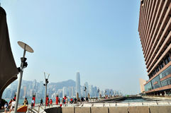 The Victoria Harbour of Hongkong ,financial center,Sheraton Hotel in Hongkong,financial center ,China,Asia Stock Photos