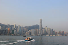 Victoria Harbour, a nature landform harbour situated between Hon. G Kong Island and Kowloon in Hong Kong Stock Images