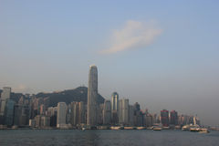 Victoria Harbour in Hong Kong Royalty Free Stock Images