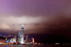 Victoria Harbour at Night. Night View of Victoria Harbour Hong Kong Royalty Free Stock Photo