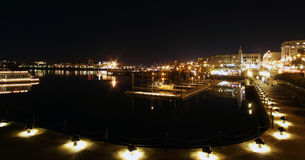 Victoria Harbour at night. A night view of Victoria Harbour in Victoria, the capital city of British Columbia, Canada Stock Photography