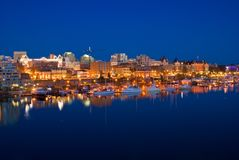 Victoria, British Columbia. Victoria Harbour at night, British Columbia, Canada royalty free stock photo