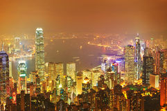 The Victoria Harbour night Royalty Free Stock Photography