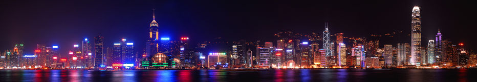 Victoria Harbour in Panoramic View stock photography