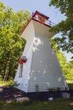 Victoria Harbour Range Rear Lighthouse por el lago Hurón Foto de archivo libre de regalías