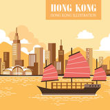 Victoria harbour scenery Royalty Free Stock Photography